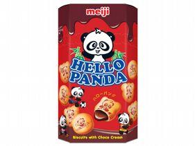 Meiji 明治~貓熊夾心餅乾(巧克力)50g進口 / 團購 / 零嘴